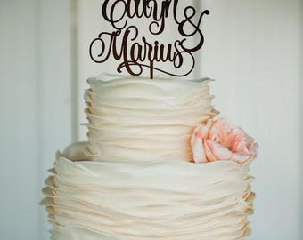 wedding cake topper wedding mr and mrs topper cake topper rustic cake topper wood personalized topper custom cake topper bride groom topper