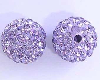 10 Violet Quality Pave Rhinestone Disco Balls 8mm 10mm 12mm Shamballa Beads