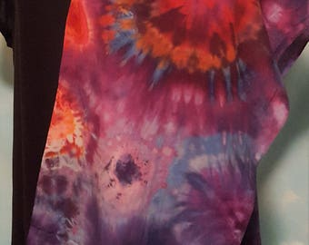 Festive Fiesta Ice Dyed Tie Dye Scarf/Dresser Scarf/TableRunner in bright colors and designs. For cantina owners or femme fatals everywhere.