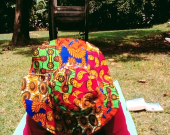 Stylish African Fabric Sun Hats