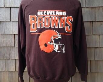 80s vintage Cleveland Browns sweatshirt - Large