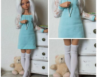 Dress and stockings for minifee (Active Line)/BJD clothes/MSD clothes/MSD outfit/bjd outfit/minifee clothes