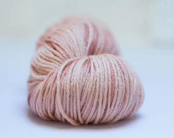 Blush- hand dyed yarn, 100% Merino Superwash