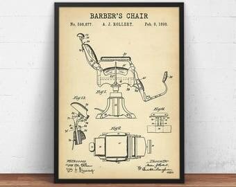 Barber Chair Patent Print, Barber Poster Printable, Barber Shop Decor, Barber Wall Art, Barber Chair Diagram, Digital Download, Barber Gifts