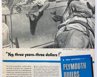 1944 Plymouth Ad from LIFE magazine