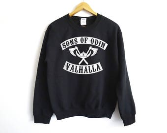 Sons Of Valhalla Sweater - Sons Of Anarchy Sweater - Viking Sweater - Valhalla Sweater - The Last Kingdom - Viking - Tv Show Shirt - Uhtred
