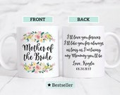 Mother of the Bride Mug Gift / Mother of the Bride Gift / I'll love you forever I'll like you for always / Gift for Mom Bride's Mom / Pastel