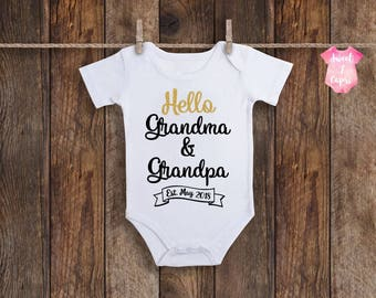 Baby Announcement Onesie, Pregnancy Reveal To Grandparents, Baby Announcement Grandparents, Pregnancy Announcement Onesie, Announcement