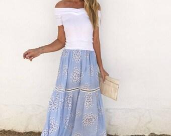 Pixel Maxi Skirt