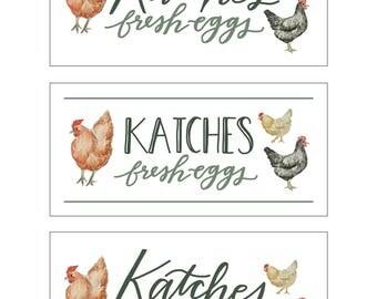 Custom Egg Carton Labels