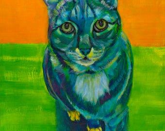 CHOLE - cat lover, kitty lover, cats, cat art,