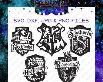 Harry Potter SVG harry potter crests svg hogwarts svg gryffindor ravenclaw hogwarts houses svg geek svg harry potter cutting files bundle