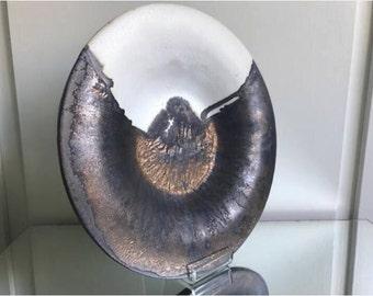 Stunning Stoneware Bowl Plate by Githa Heske