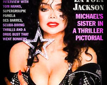 Vintage Playboy March 1989 LaToya Jackson Tom Hanks