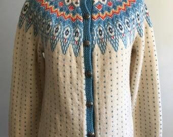 Vintage Norwegian Women's Cardigan