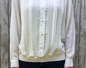 Off White Collared Blouse