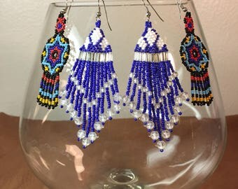 Native American Seed Bead Earrings