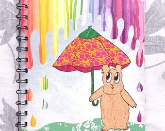 Rainbow drops A5 notebook