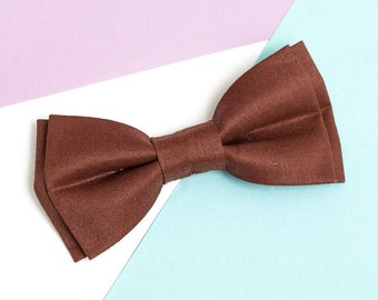 Bow ties for men Brown Linen Bow tie Bow tie for wedding Groomsmen gifts Toddler bow tie Wedding bow tie Boys bowtie Baby bow tie Necktie