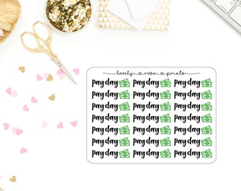 Pay Day Functional Planner Stickers