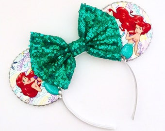 The Ocean - Handmade Mouse Ears Headband