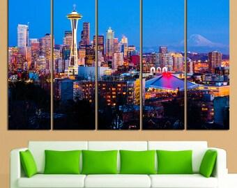 Seattle Seattle Wall Art Seattle Wall Decor Seattle Skyline Seattle Print Seattle Photo Seattle Poster Seattle Home Decor Seattle Canvas