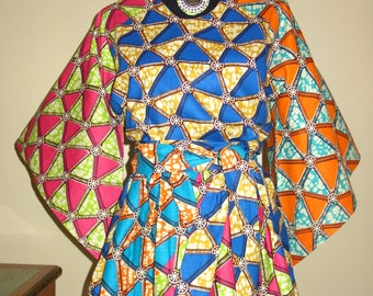 Womens Tops, African Print Tops, Blouses for Women, Ankara Blouse, African Clothing,  Women Gather Tops