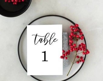 Wedding Event Table Numbers 1-40, Party Table Numbers, Wedding Printable Table Decor, able Number PDF File,