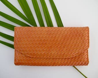 Vintage Vegan Wallet Faux Crocodile Vegan Leather Wallet Summer Accessories