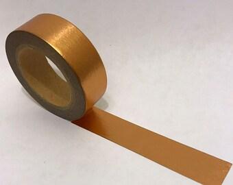 Washi Tape/ Craft Tape- Gold Copper Solid Metallic Foil