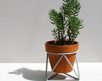 Mini Tri Plant Stand in Grey