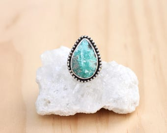 Turquoise Ring // Sterling Silver // Size 7.75 // Campitos Turquoise