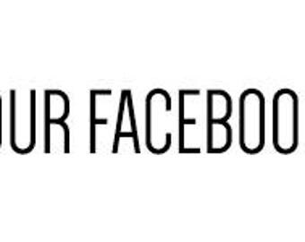Custom vinyl decal of your Facebook Page
