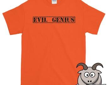 Evil Genius Shirt, Sinister Shirt, Devil Shirt, Evil Shirt, Funny Shirts, Funny TShirts, Novelty Tee, Funny Tee, Geek Shirt, Nerd Shirt
