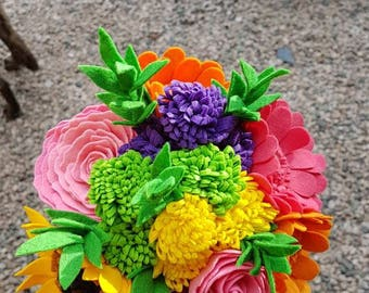 Bright Felt/Artificial Bouquet