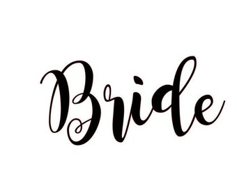 BRIDE Svg Cut File