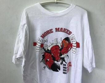 Vintage Chicago Bulls Shirt Size XL Free Shipping 90s Chicago Bulls One More make Four Basketball NBA