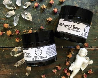 Whipped Rose Face Butter / Herbal Face Lotion / Anti-aging Night Cream / Under Eye Cream / Wrinkle Reducing Natural Face Treatment