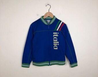 Vintage ITALY Zip Jacket Size Small, Italia Sweater