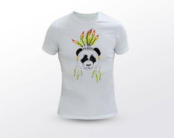 Panda T Shirt, Native American Tee, Animal T Shirt, Ganja T Shirt, Weed T Shirt, Stoner T Shirt, Panda Tee, Animal Tee, Ganja Tee, Weed Tee