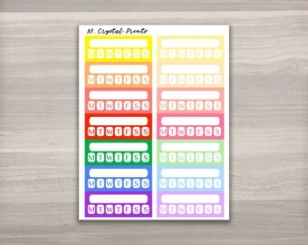 14 Colorful Weekly Habit Tracker Planner Sticker