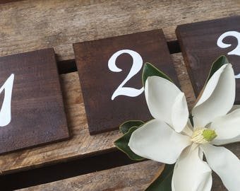 x10 Rustic Table Numbers, Wooden Table Numbers, Rustic Weddings. Upcycled Timber.