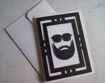"Father's Day 3D Card ""Beard"""