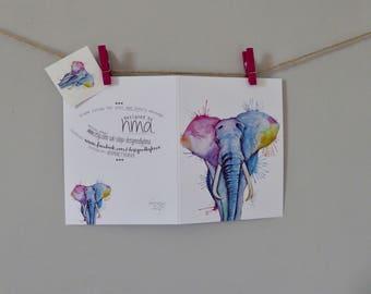 Elephant Greetings Card