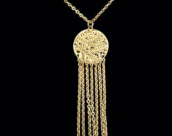 60s Pendant with Chain Tassel Necklace        GC2783