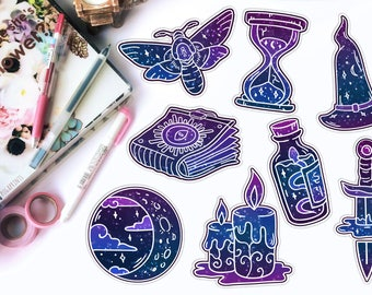 Galaxy Die Cuts || 8 Designs, Laminated or Cardstock || TN, Traveler's Notebook, Planner, Bujo, ECLP, Accessories