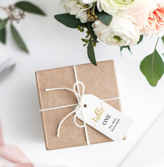 Gold Table Numbers Template