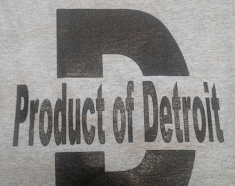 Product of Detroit Shirt Grey/ Black