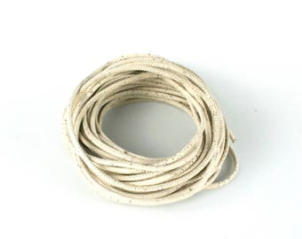 White cork rope 3 mm 40 inches