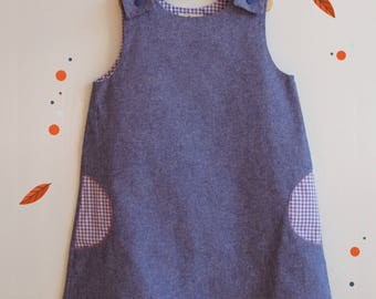 "Trapeze girl ""Schoolgirl"" gingham pockets dress"